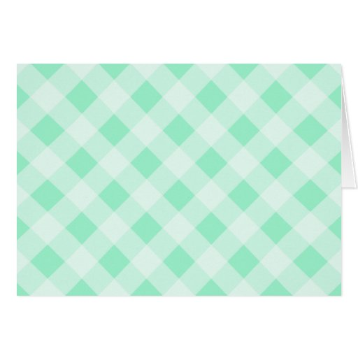Mint Green Gingham Thank You Card