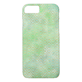 Mint Green Gold Chevron iPhone 8/7 Case
