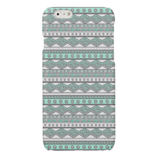 Mint Green Gray White Aztec Savvy iPhone 6 Case