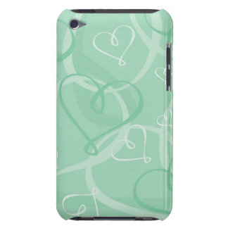Mint green heart pattern iPod touch Case-Mate case