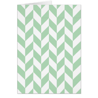 Mint Green Herringbone Pattern Card