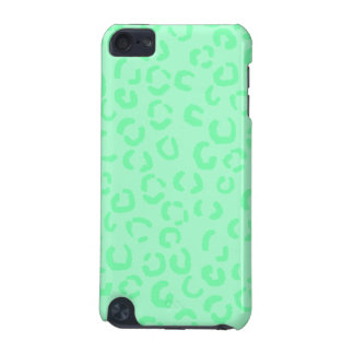 Mint Green Leopard Print Pattern. iPod Touch 5G Covers