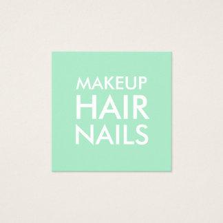 Mint green makeup artist / salon business card