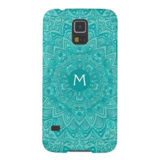 Mint Green Mandala Monogram Customizable Color Galaxy S5 Case