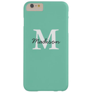 Mint Green Monogram iPhone 6+ Case