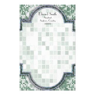Mint Green Mosaic Stationery