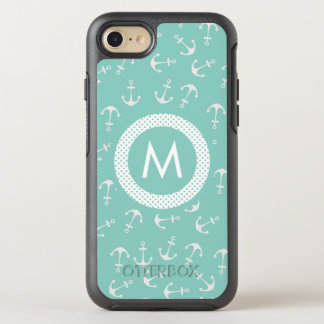 Mint Green Nautical Monogram OtterBox Symmetry iPhone 8/7 Case