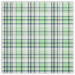 Mint Green Navy Wt Preppy Madras Style Plaid Sz3#2 Fabric
