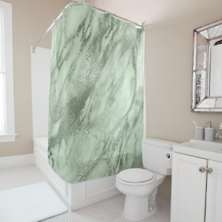Mint Green Olive Salvia Marble Abstract Stone Lux