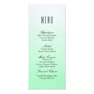 Mint Green Ombre | Wedding Dinner Menu Card