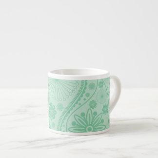 Mint green paisley pattern