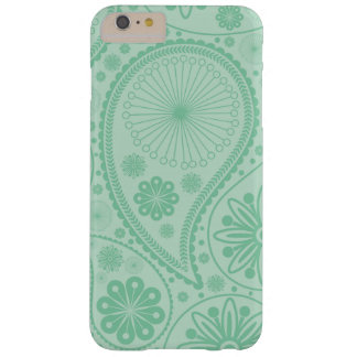 Mint green paisley pattern barely there iPhone 6 plus case