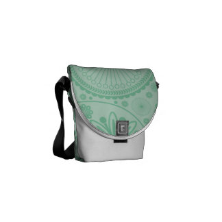 Mint green paisley pattern commuter bag