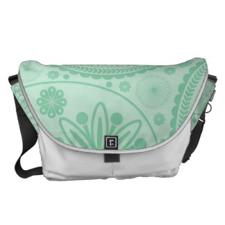 Mint green paisley pattern commuter bags