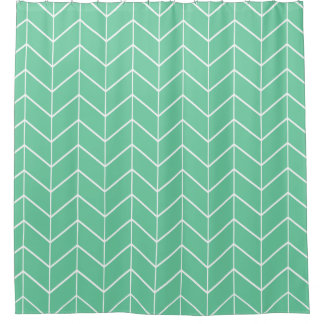 Mint Green Pastel Chevron Modern Two Tone Pattern