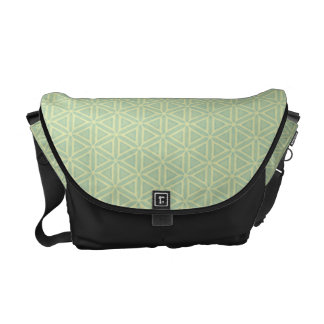 Mint Green Pattern Courier Bags