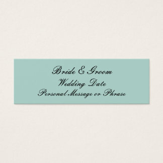 Mint Green Personalized Wedding Favor Tag Template Mini Business Card