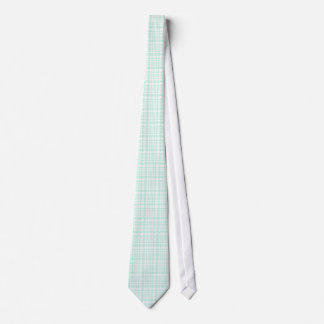 Mint-Green Pied-De-Poule Hounds-Tooth Pattern Tie