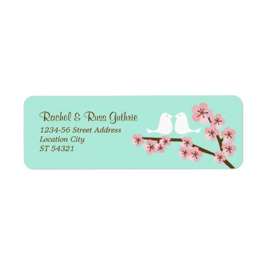 Mint Green & Pink Cherry Blossom Modern Wedding