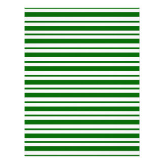 Mint Green Pinstripes Letterhead