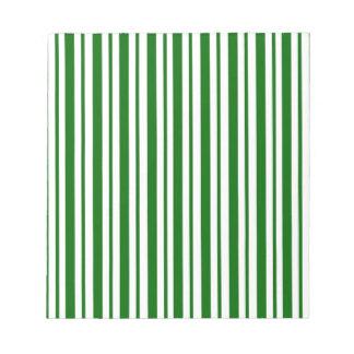 Mint Green Pinstripes Notepad