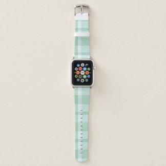 Mint Green Plaid Apple Watch Band