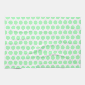 Mint Green Polka Dot Kitchen Towel