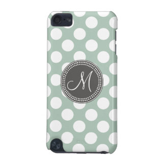 Mint Green Polka Dot Monogram iPod Touch (5th Generation) Cover
