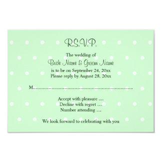 Mint Green Polka Dot Pattern. Wedding Card