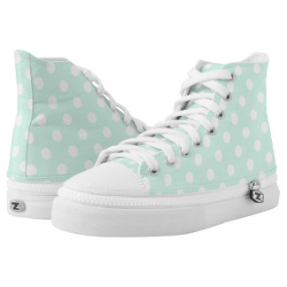 Mint green polka dot shoes