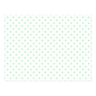 Mint Green Polka Dots Postcard
