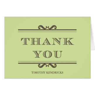 Mint green refine elegance thank you cards