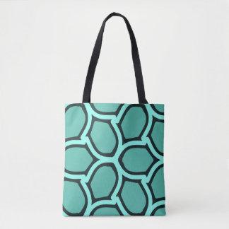 Mint green retro elegance tote bag