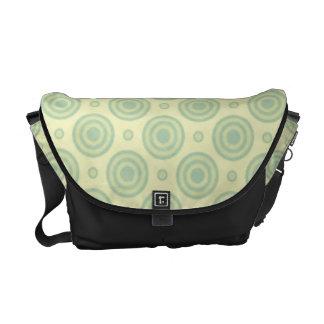 Mint Green Retro Pattern Commuter Bags