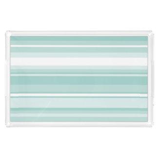 Mint green stripes perfume tray