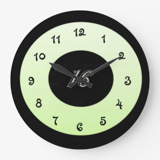 Mint Green Sweet 16 Large Clock