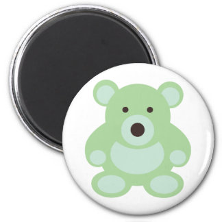 Mint Green Teddy Bear 2 Inch Round Magnet