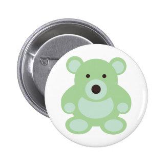 Mint Green Teddy Bear Buttons