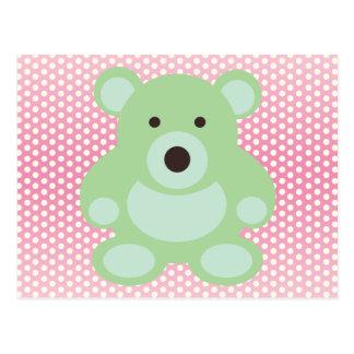 Mint Green Teddy Bear Postcard