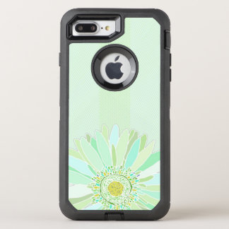 Mint Green Texture Daisy Art OtterBox Defender iPhone 7 Plus Case