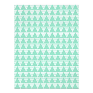 Mint green triangle pattern and white stripes custom letterhead