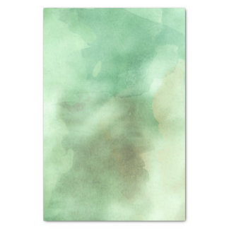 Mint Green Watercolor Designer Trendy Spring Tissue Paper