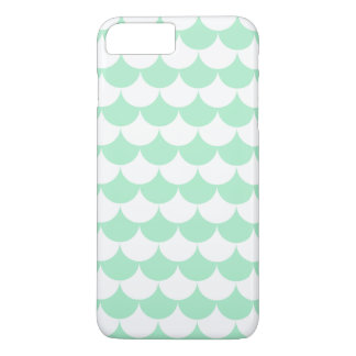 Mint Green Waves Pattern Nautical iPhone 7 Plus Case