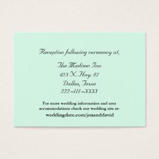 Mint Green Wedding enclosure cards