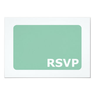 Mint Green Wedding RSVP Card