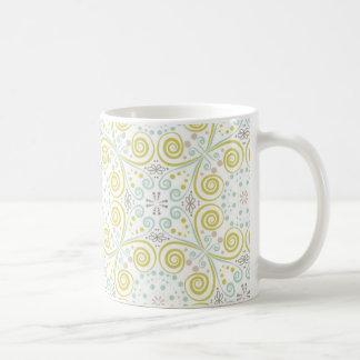 Mint & Green Whimsical Pattern Coffee Mug