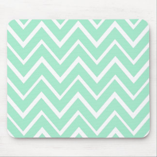 Mint green whimsical zigzag chevron pattern mouse pad