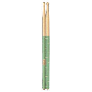 Mint Green White Anchors Pattern, Gray Monogram Drumsticks