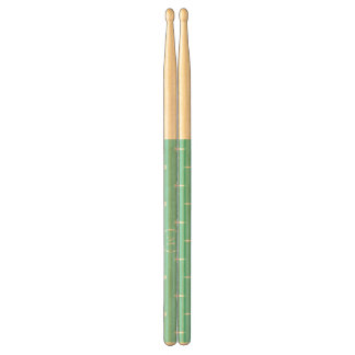 Mint Green White Anchors Pattern Your Monogram Drumsticks