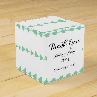 Mint Green White Aztec Arrows Pattern Favor Box
